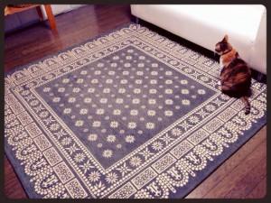 flower bandanna rug 200×200cm